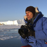 Photographer James Balog shoots in Ilulissat Bay, Greenland, March 2008.