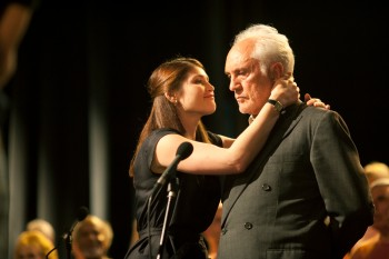 (L-R) GEMMA ARTERTON and TERENCE STAMP star in SONG FOR MARION