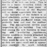 """An article about the opening of the Athena Cinema, then called the """"Majestic."""" Read excerpts from the article below."""