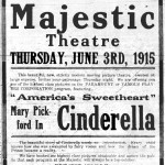 The first showing at the Athena Cinema, Mary Pickford's 'Cinderella.' Join us on June 3, 2015 for the same show!
