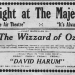 Violet MacMillan starred in this 1914 version of the Wizard of Oz, called 'His Majesty, the Scarecrow of Oz.'