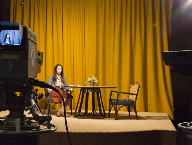 Production still from set of CHRISTINE, 2015